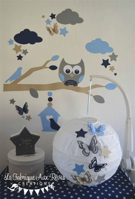 chambre hibou stunning deco chambre bebe garcon bleu et gris