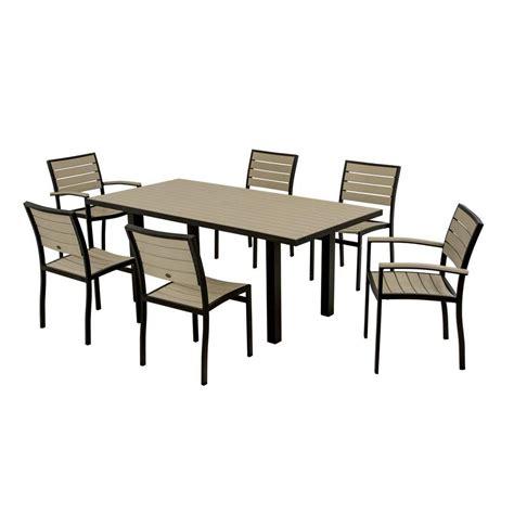 polywood nautical mahogany 7 patio dining set pws125