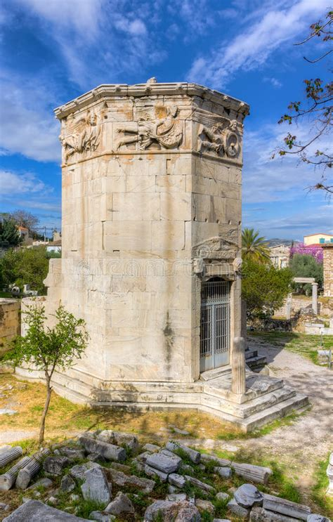 Tower Of The Winds, Athens, Greece Stock Image - Image of ...