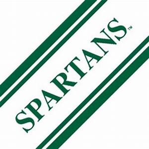ncaa michigan state spartans prepasted wallpaper border With kitchen cabinets lowes with university of michigan stickers