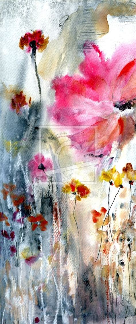 Gemalte Bilder Auf Leinwand Abstrakt by Malerei Aquarell Abstrakt Blumen Mohn Blumen Malen