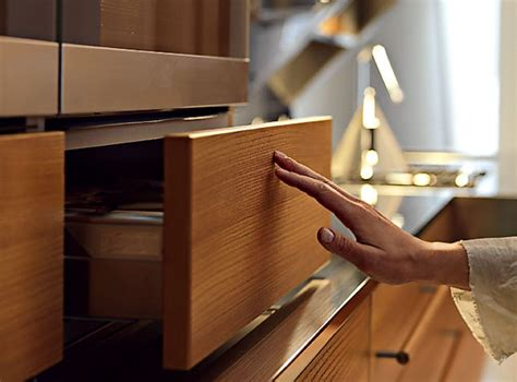soft close cabinets and drawers snaidero kitchen hardware durable practical solutions