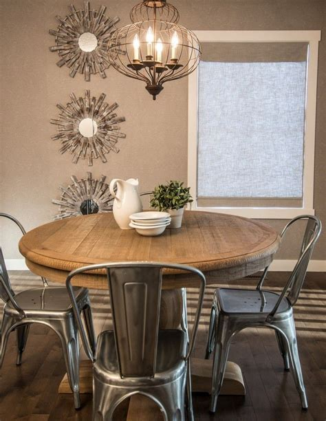 Rustic Round Dining Table Dining Room Rustic With