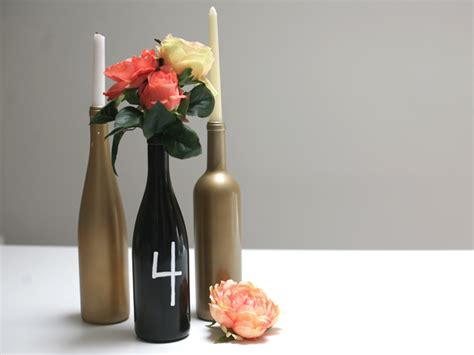 diy wine bottle centerpiece momtastic