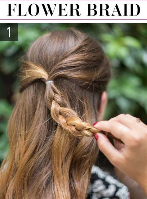 flower braid easy hairstyles you can do in 5 minutes