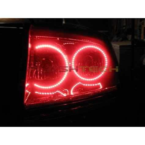 2007 dodge charger tail lights dodge charger white led halo tail light kit 2005 2007
