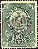 State of New York Stock Transfer Tax Stamps