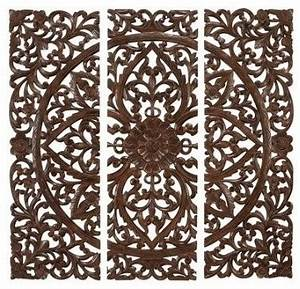 benzara hand carved wood wall panels sculpture With what kind of paint to use on kitchen cabinets for outdoor metal wall art decor and sculptures