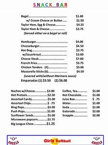 25 images of concession menu template blank ballapark With concession stand menu template