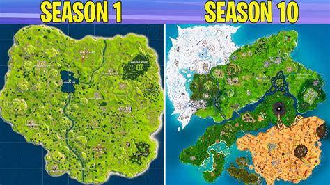 evolution  fortnite map season   season  youtube