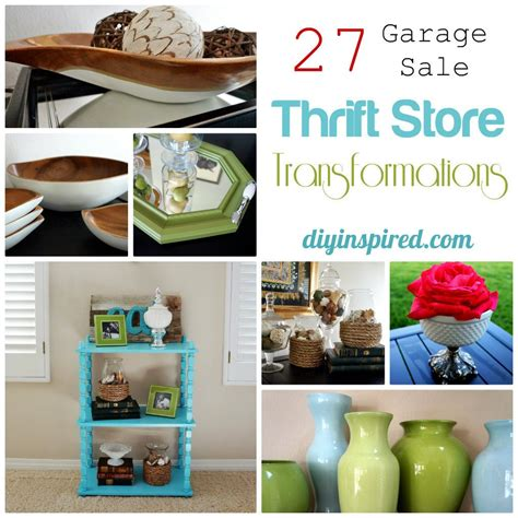 thrift store and garage sale transformations diy inspired