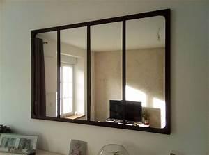 Miroir Style Verrire Industriel 120x80 Cm