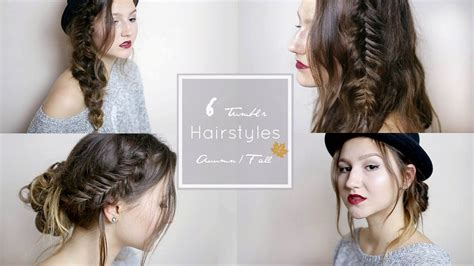 6 Quick & Easy Tumblr Hairstyles || ☁️