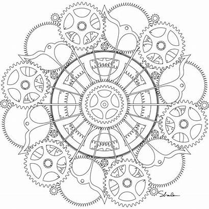 Steampunk Coloring Pages Getdrawings