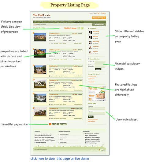 real estate wordpress theme property listings idx mls