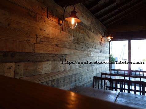 bar decoration murale avec les palettes en bois pallet ideas