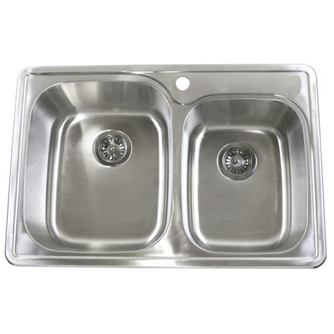 best gauge for stainless steel sink 33 inch top mount drop in stainless steel double bowl