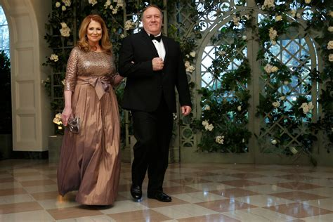 CIA Director Pompeo and his wife arrive for the State ...