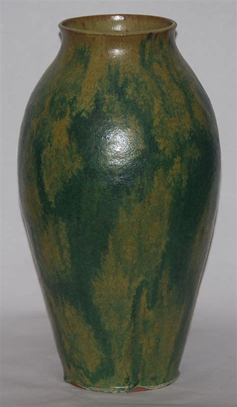 marvin bailey pottery dancing devils folk art tall vase