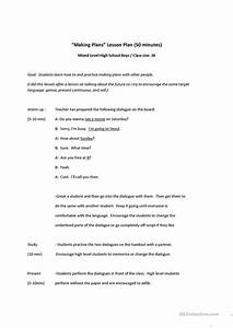 Making Plans Conversation Lesson Worksheet