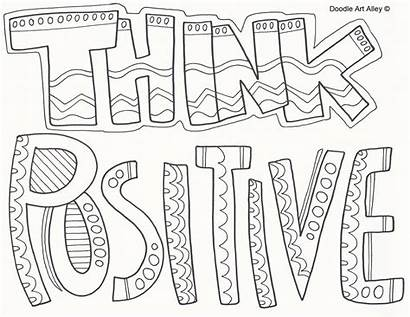 Coloring Pages Printable Quotes Inspirational Words Attitude