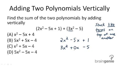 Addition And Subtraction Of Polynomials  Ck12 Foundation