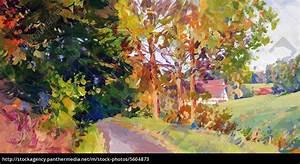 Bilder Bäume Gemalt : herbst landschaft gemalt stockfoto 5604873 bildagentur panthermedia ~ Orissabook.com Haus und Dekorationen
