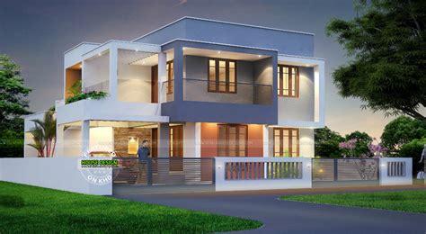contemporary inspired kerala home design plans