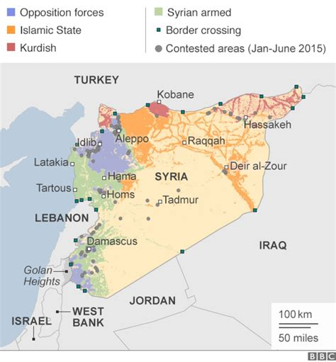 syria mapping  conflict bbc news