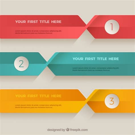 colored flats flat colored banners template vector premium