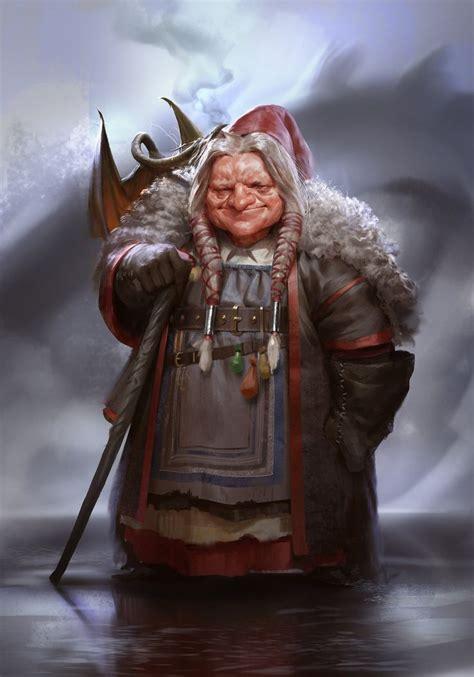 dwarf witch healer wizard gnome character npc dragon