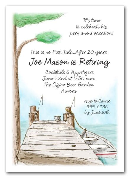 boat dock party invitations fishing invitations