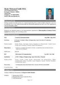 resume format for freshers computer engineers pdf sle resume for freshers non technical sle resume
