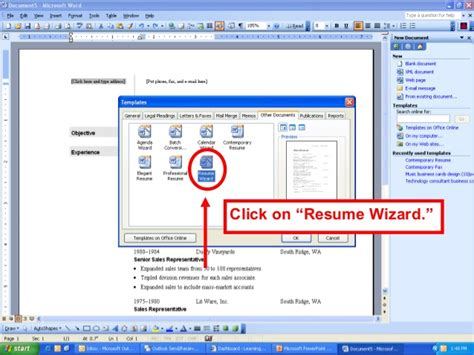 microsoft word 2013 resume wizard use resume wizard microsoft word 2007