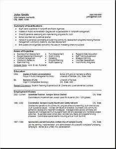 Government Resume Format o