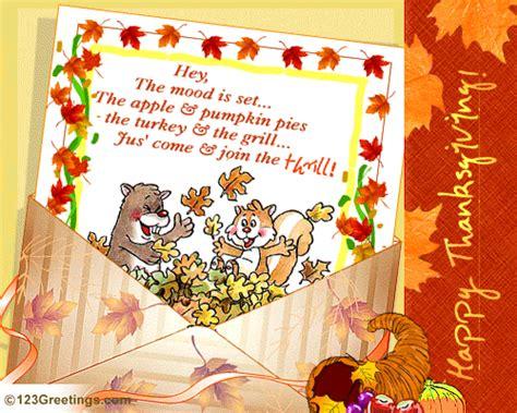 special thanksgiving invite  dinner ecards
