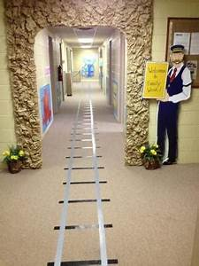 I did this Polar Express for the Christmas door decoration