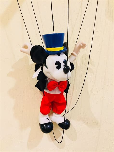 mickey mouse disney marionette puppet doll helm toy