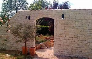 Pierre De Parement Exterieur : muret ext rieur en pierres de parement creapierre ~ Premium-room.com Idées de Décoration