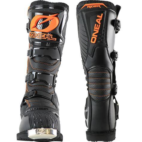 cheap moto boots oneal new 2017 mx rider boot dirt bike black orange