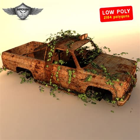 animated wrecked wrecked car 3d obj