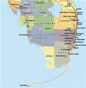 Map of South Florida Counties