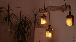 Lampen Selber Bauen Anleitung : diy desinger led lampe aus treibholz und alten flaschen ~ A.2002-acura-tl-radio.info Haus und Dekorationen