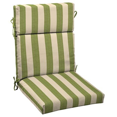 allen and roth patio furniture cushions shop allen roth merrill stripe cilantro standard patio