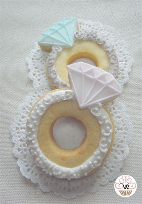 diamond ring cookies sugar cookies pinterest diamond