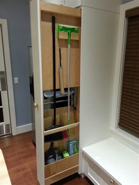 Kitchen Pantry Storage Cabinet Broom Closet by Kitchen Broom Pull Out But I Would That As A Slim