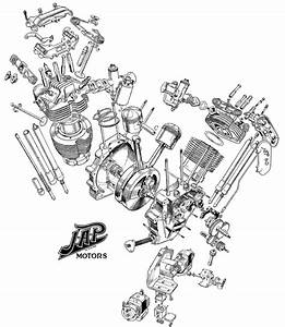 1909 Jap V-twin Exploded View