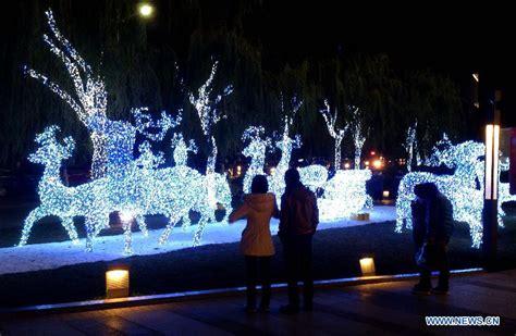 christmas lights in e china s shandong china org cn