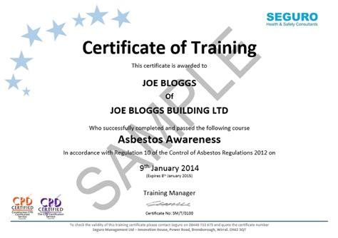 asbestos awareness elearning training seguro