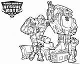 Rescue Bots Coloring Transformers Characters Printable Coloriage sketch template